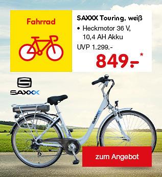 SAXXX Touring E-Bike, nur 849.- €*
