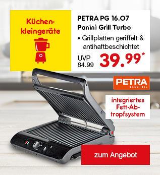 PETRA PG 16.07 Panini Grill Turbo, nur 39.99 €*