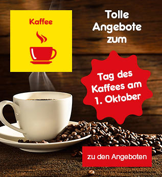 Tolle Angebote zum Tag des Kaffees am 1. Oktober