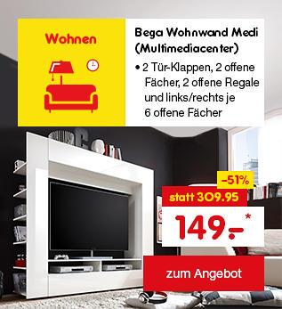 Bega Wohnwand Medi (Multimediacenter), nur 149.- €*