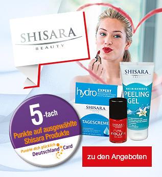 5-fach DeutschlandCard Punkte auf ausgewählte Shisara Produkte