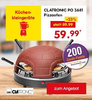 Clatronic PO 3681 Pizzaofen, für nur 59.99 €*
