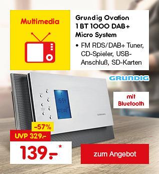 Grundig Ovation 1 BT 1000 DAB+ Micro System, für nur 139.- €*