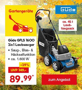Güde GFLS 1600 3in1 Laubsauger, für nur 89.99 €*