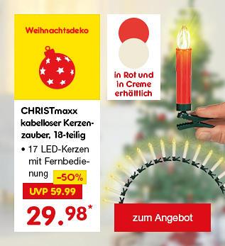 Kabelloser Kerzenzauber, in Rot oder Creme, für je nur 29.98 €*