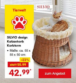 SILVIO design Katzenkorb Korbturm, für je nur 42.99 €*