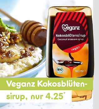 Veganz Kokosblütensirup nur 4.25*