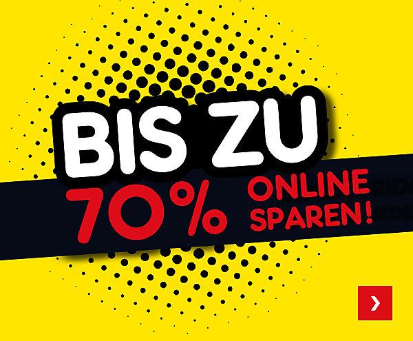 Bis zu 70 % online sparen!