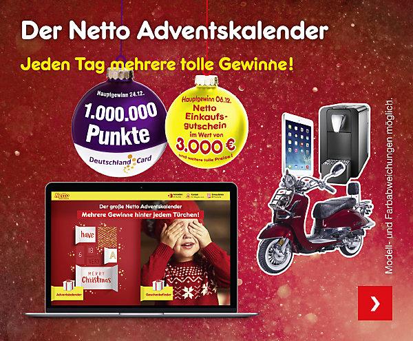 Der Netto Adventskalender - Jeden Tag mehrere tolle Gewinne!