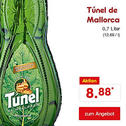 Túnel de Mallorca Kräuterspirituose, 30% Vol. 0,7 Liter (12.69 / l), nur 8.88 €*