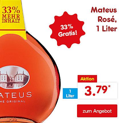 Mateus Rosé - 33% gratis, 1 Liter, nur 3.79 €*