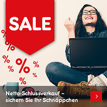 SALE - Netto-Schlussverkauf - sichern Sie Ihr Schnäppchen