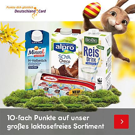 10-fach DeutschlandCard-Punkte auf das laktosefreie Sortiment im Online-Shop