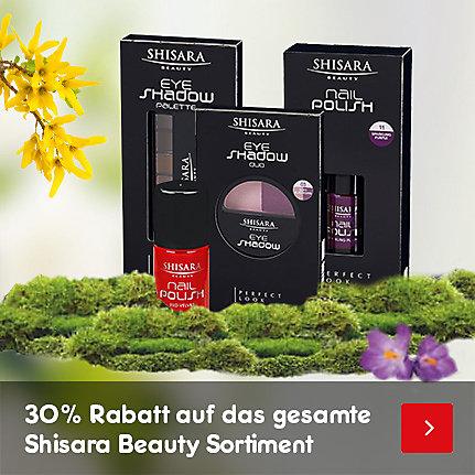 30% Rabatt auf das gesamte Shisara Beauty Sortiment