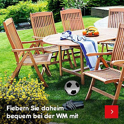Gartenmöbel - fiebern Sie daheim bequem bei der WM mit