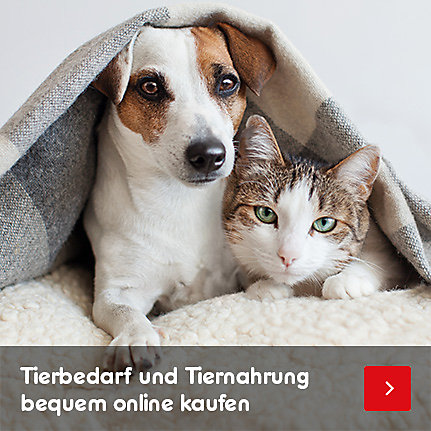 Tierbedarf und Tiernahrung bequem online kaufen
