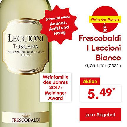 Unsere Weine des Monats - Frescobaldi I Leccioni Bianco 0,75 Liter (7.32 / l), für nur 5.49*