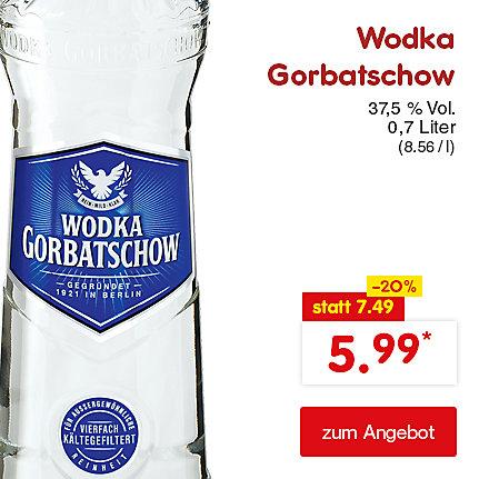 Wodka Gorbatschow 37,5% Vol. 0,7 Liter (8.56 / l), für nur 5.99 €*