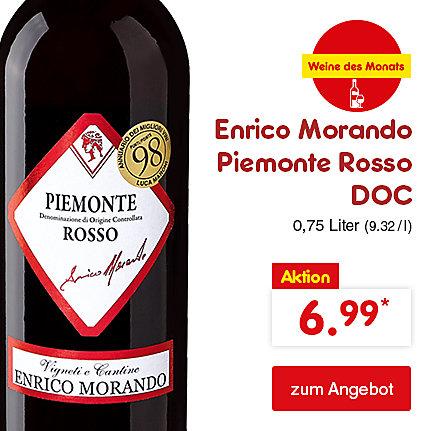 Enrico Morando Piemonte Rosso DOC, 0,75 Liter (9.32 / l), nur 6.99 €*