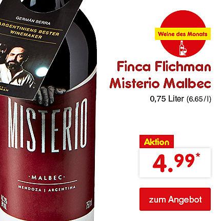 Finca Flichman Misterio Malbec, 0,75 Liter (6.65 / l), für nur 4.99 €*