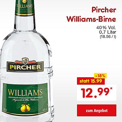 Pircher Williams-Birner, 0,7 Liter (18.56 / l), für nur 12.99 €*