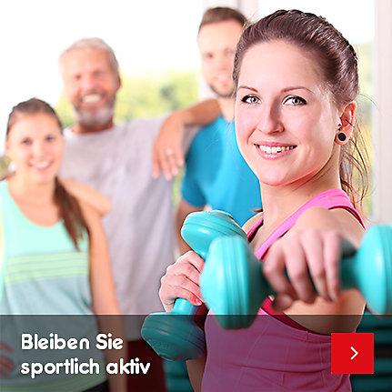 Bleiben Sie sportlich aktiv