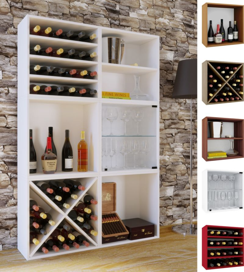 VCM Wein-Regalserie Regal Weinregal Weinschrank...