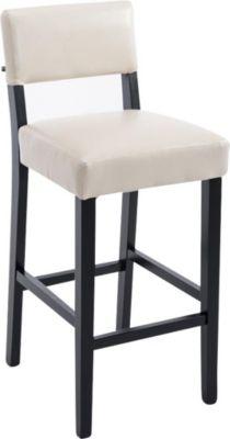 Holz Barhocker MORITZ mit Kunstleder-Bezug, Bar-Stuhl mit Lehne, Sitzhöhe 75 cm
