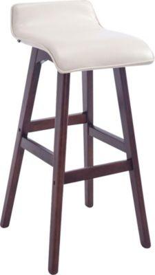 Barhocker CORNEILA mit Kunstlederbezug, Sitzhöhe 75 cm, gepolstert, Tresenhocker mit Holzgestell, Th
