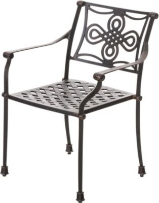 CLP Gartenstuhl SHAKTA im Jugendstil Antiker Stuhl aus Aluminium In verschiedenen Farben erhältlich