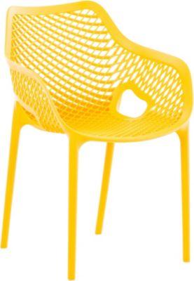 CLP XL-Bistrostuhl AIR aus Kunststoff I Stapelstuhl AIR mit einer Sitzhöhe von 44 cm I Outdoor-Stuhl