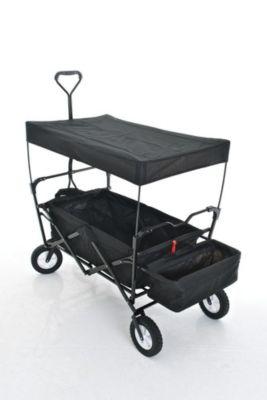clp bollerwagen faltbar klappbar mit dach hecktasche transporttasche. Black Bedroom Furniture Sets. Home Design Ideas