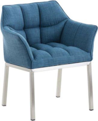 Lounge-Sessel OCTAVIA mit Armlehnen, 4 Beine, Stoff-Bezug, gepolstert, Sitzhöhe 49 cm