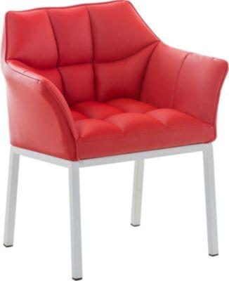 Lounge-Sessel OCTAVIA mit Armlehne, Kunstleder-Bezug, 4 Beine, gepolstert, Sitzhöhe 49 cm