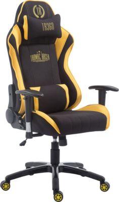 CLP Racing Bürostuhl SHIFT XL mit Stoffbezug l Gamingstuhl mit Leichtlaufrollen und einer max. Belas