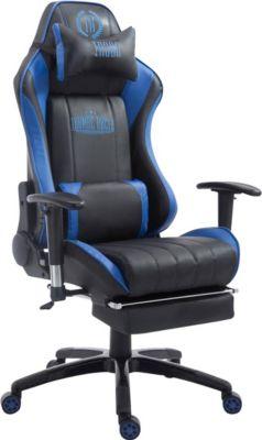 CLP Racing Bürostuhl SHIFT XL mit Kunstlederbezug l Gamingstuhl mit Leichtlaufrollen und einer max.