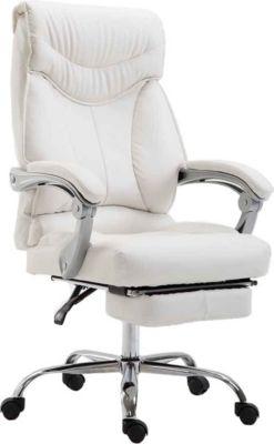CLP Bürostuhl BIG IOWA mit Kunstlederbezug, Chefsessel mit Fußstütze, max. belastbar bis 136 kg, höh