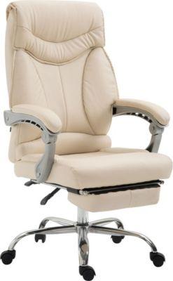 Bürostuhl BIG IOWA mit Kunstlederbezug, Chefsessel mit Fußstütze, max. belastbar bis 136 kg, höhenve