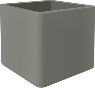 Elho Pure Soft Brick 48,5x48,5xH49 cm, Rollen, Steingrau