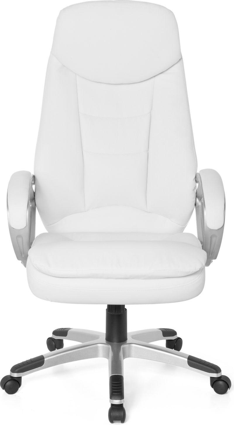 AMSTYLE Bürostuhl COSENZA Kunstleder Weiß Schreibtischstuhl X-XL Chefsessel höhenverstellbar Drehstuhl Wippmechanik
