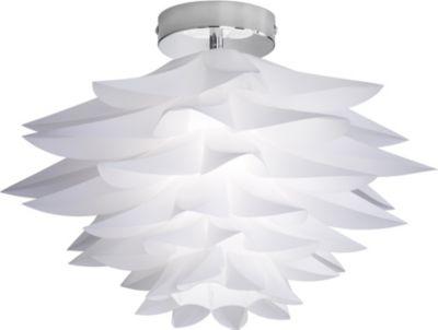 Reality RealityTrio Deckenleuchte RL119, Deckenlampe, Kunststoff Blätter chrom, Ø=50cm