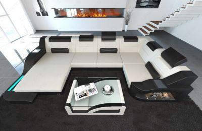 Sofa Dreams New Look Stoff Wohnlandschaft PALERMO LED
