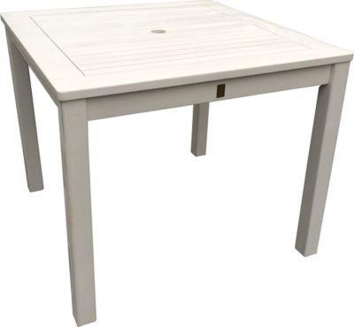 grasekamp gartentisch 90x90cm weiss holztisch tisch. Black Bedroom Furniture Sets. Home Design Ideas