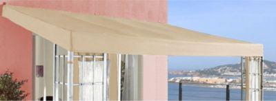 Ersatzdach Anbaupergola Alu Optik 3x4m Sand