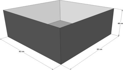 Grasekamp gartenteich hochteich teich einsatz 80x80 cm for Gartenteich onlineshop