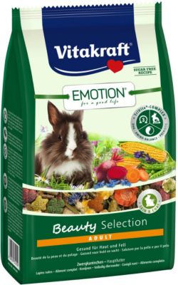 Vitakraft Emotion Beauty Adult, Zwergkaninchen - 600g