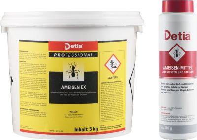 Detia - Ameisen-Ex Ameisenmittel 5kg und 500g Streudose