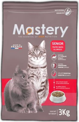 Mastery Katzenfutter Senior, Trockenfutter für Katzen ab 10 Jahren - 3 kg