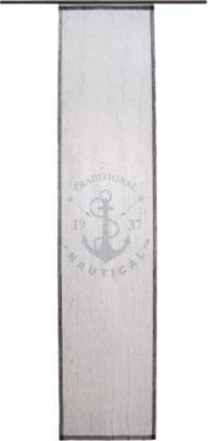 Homing Flächenvorhang Anchor - 60 x 245 cm, Grau