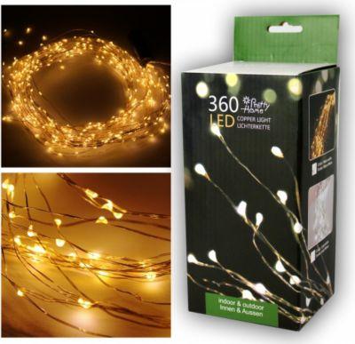 1PLUS Premium LED Lichterkette, Drahtlichterkette, Mico LED, 360 LED, 250 cm, warm weiß, Indoor/Outd